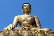 Overseeing the Thimphu valley, bestowing blessings, peace and happiness on the whole world, is the 'Made in China' Buddha Dordenma, a 51-meter tall bronze Sakyamuni statue filled with 125,000 smaller statuettes of Buddha, and a huge chapel inside its base. The site is to be completed in 2016.