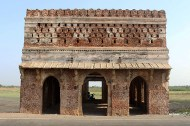 Kabutar Khana, a water pavilion, on the banks of Vada Talao. The upper walls had numerous pigeon holes, hence the name Kabutar Khana [Pigeon House].