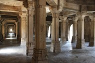 """Saher-ki-Masjid, the """"Mosque of the City"""" was the Gujarat Sultanate's royal family and nobles' private mosque. Covering 56 X 40 metres in area, it was built using a mixed Indian trabeate [pillar and beam] and Islamic arcuate [column and arch] style."""
