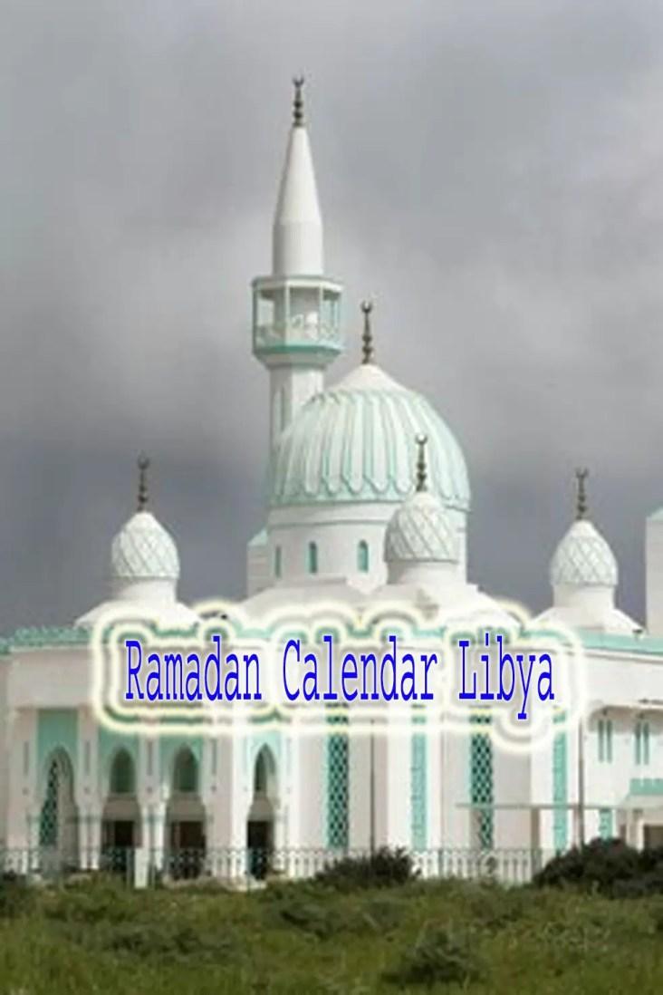 Libya Ramadan Calendar 2019