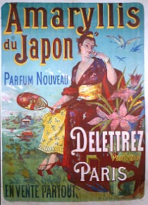 poster advertising Amaryllis du japon perfume