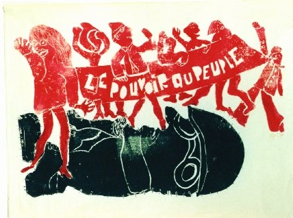 poster from 1968 protests in Paris