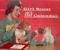cover of 1958 Girl Scouts of the USA calendar