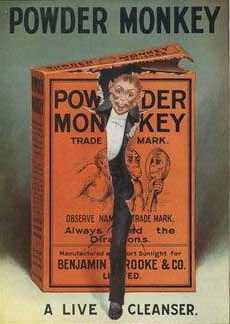 Advertising card for Powder Monkey soap