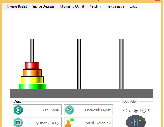 VB Towers of Hanoi Source Code and Download Link