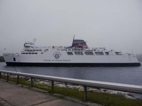 The ferry arrived to take us from South Baymouth to Tobermory.