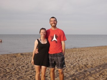 We borrowed clothes & bathing suits to go to the beach... did you notice?