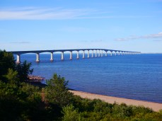 The Bridge as seen from Cape Jourimain's lookout tower.