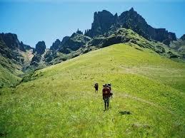 Man Walking On Hills