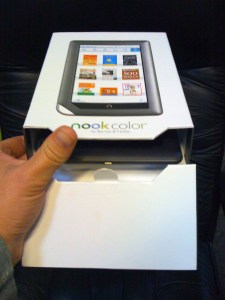 The Nook packaging comes apart