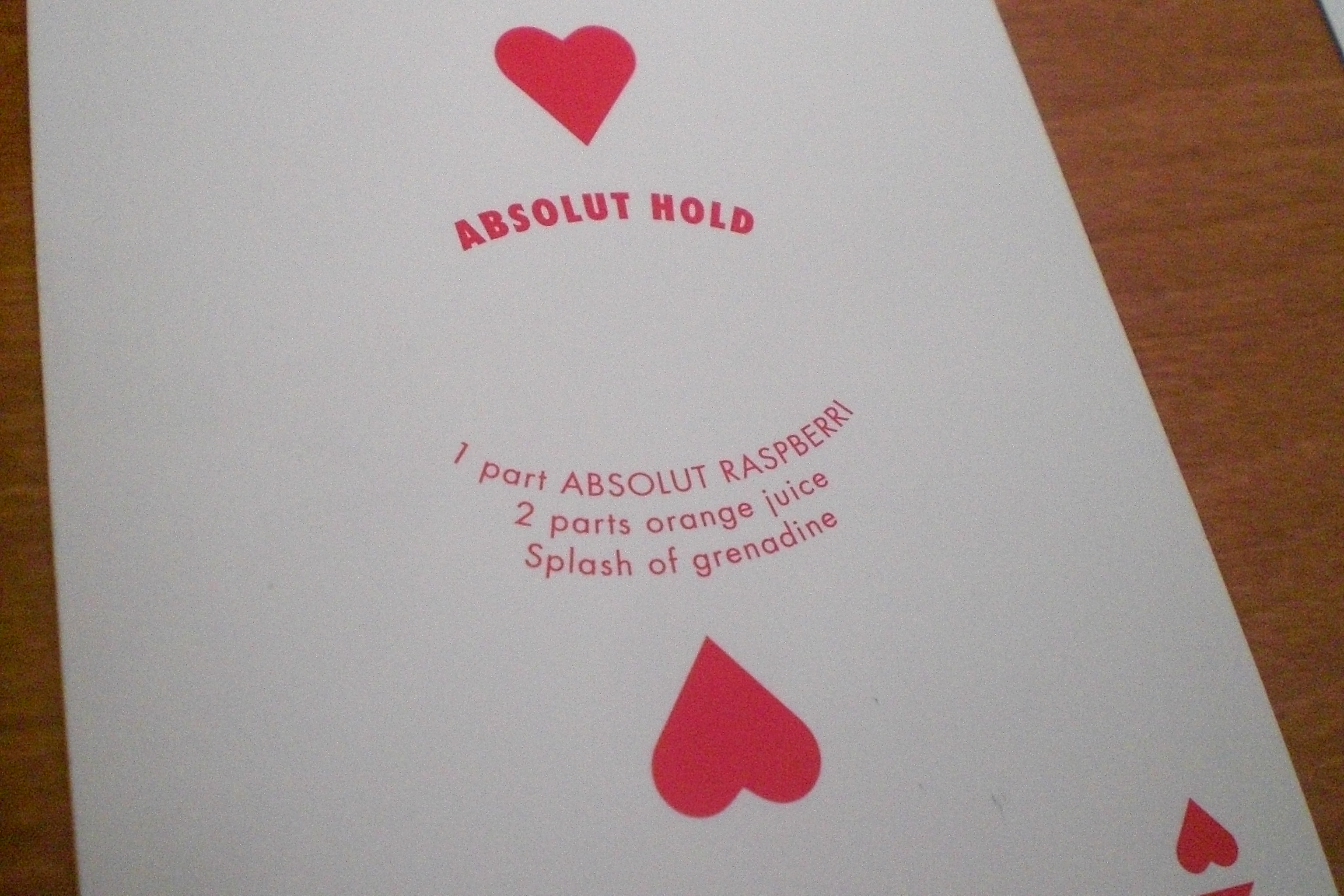 Absolut : Absolut Hold Recipe