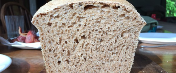 Nice Crumb on Sourdough Loaf