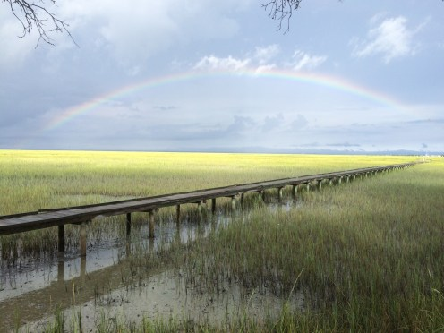 A rainbow the morning we left Tybee.