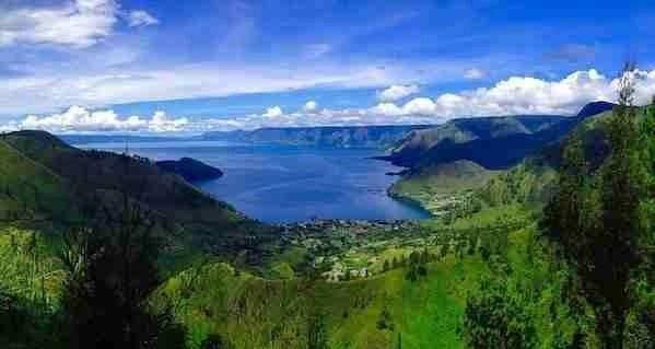 Toba Lake in Indonesia