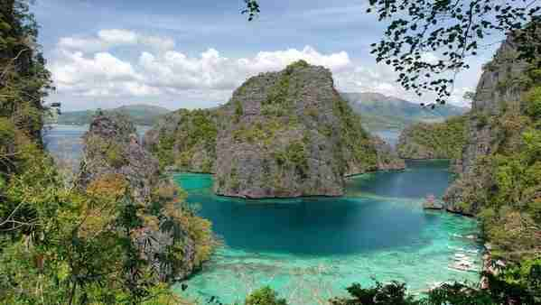 View over Coron Bay at Coron's Kayangan Lake