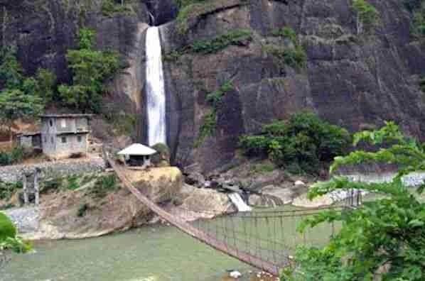 Bridal Veil Falls in Baguio