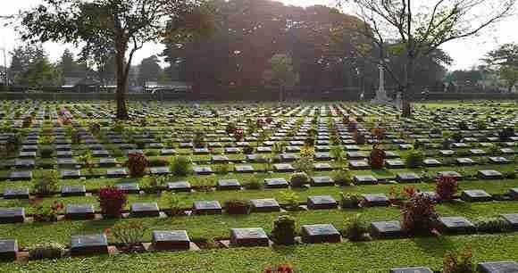 Chung Kai War Cemetery in Kanchanaburi Thailand