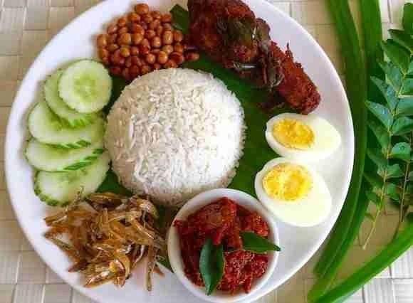 Nasi Lemak Dish