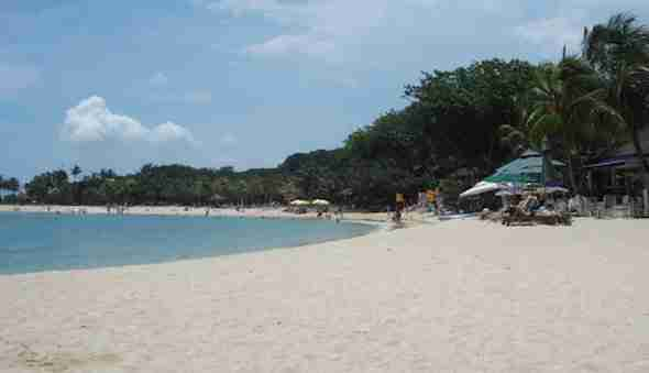 Palawan Beach in Singapore