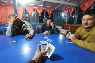 Before bed we had an intense game of Scopa, which is an Italian card game I was taught on the trek. It's very addictive.