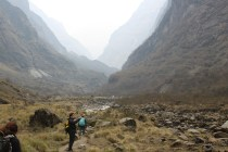 Approaching the Base Camp, we walked through a huge gorge for several hours. It was bleak and desolate, but also beautiful.