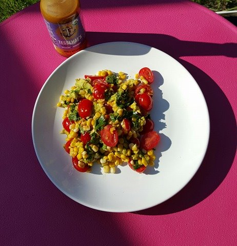 Honey Balsamic Corn Salad