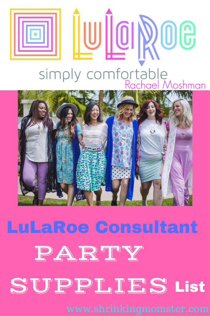 LuLaRoe consultant pop up party supplies list