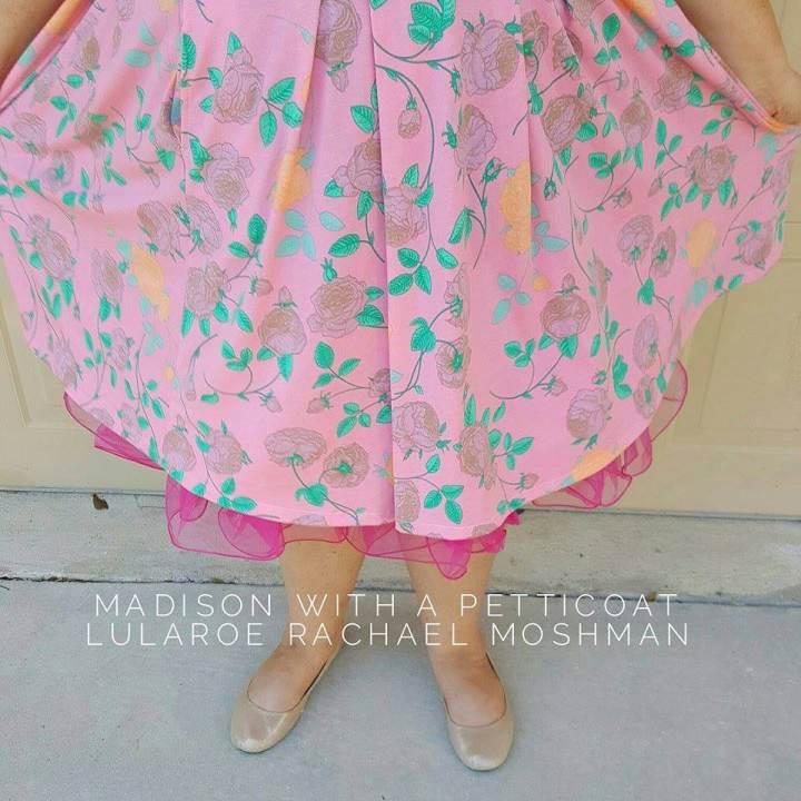 LuLaRoe Madison skirt with a petticoat