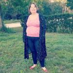 Democracy jeans and LuLaRoe Sarah duster with Vince Camuto ballet flats and Walmart tank.