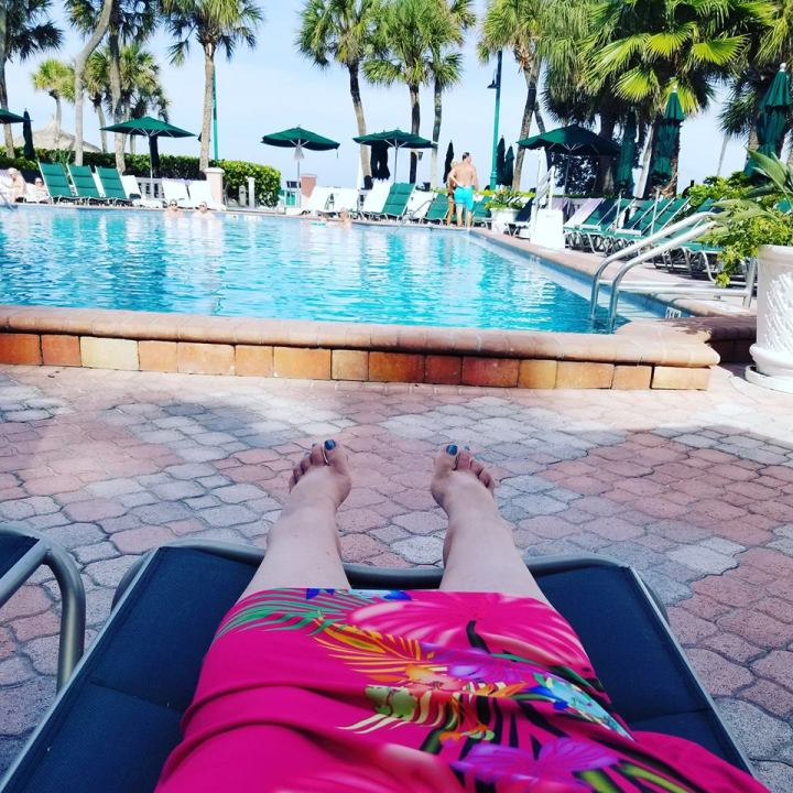 Soaking up the sun at Don Cesar Hotel