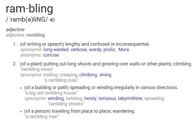 Definition of rambling