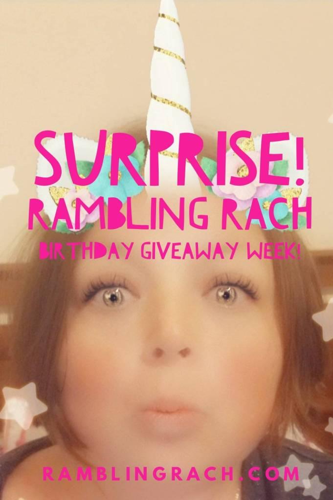 Rambling Rach week of birthday giveaways