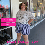 Shein review: Plus size shorts and blouse