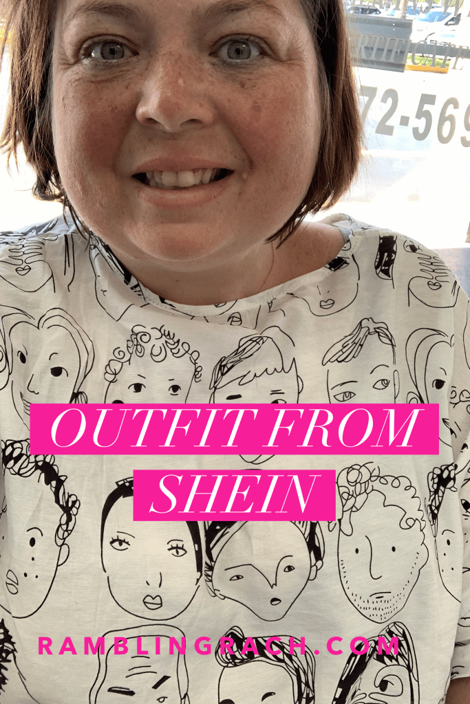 Shein review: Plus size black and white faces blouse