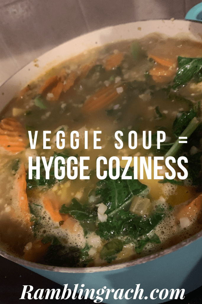 Veggie soup for hygge coziness