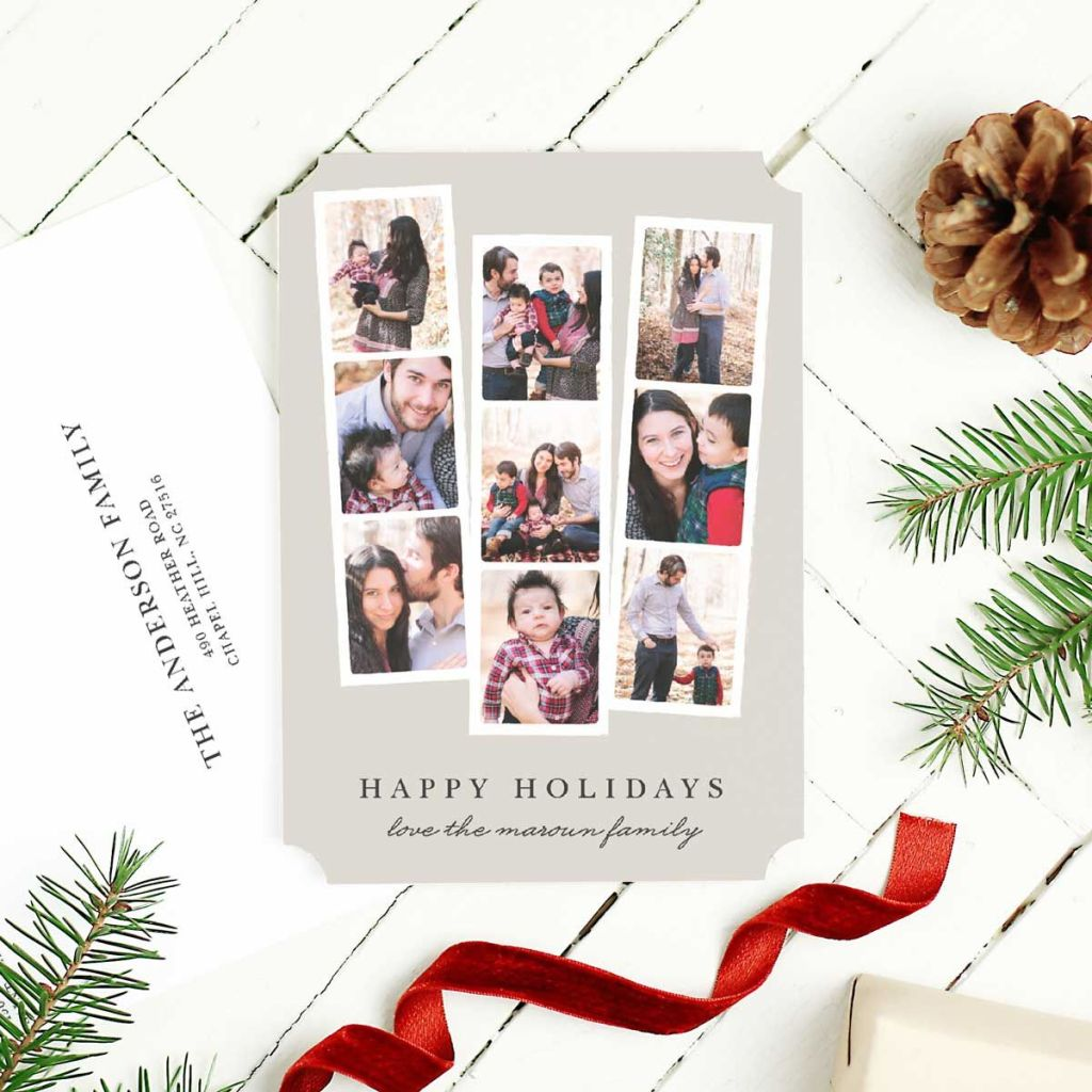 Holiday photo booth card by Basic Invite