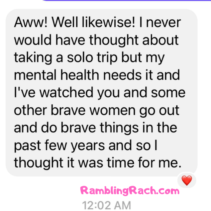 Rambling Rach blog reader asks for plus size fashion recommendations for Las Vegas trip because she's been inspired by healing and bravery. You never know who or how your healing, trauma, and mental health stories will touch!
