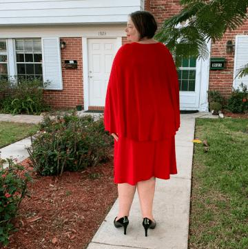 Eloquii unlimited red cape dress