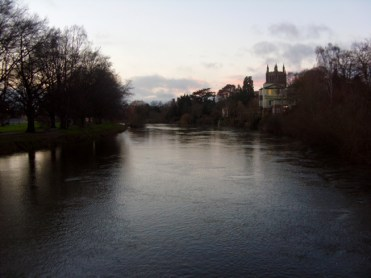 Photo of Hereford Cathedral by the River Wye