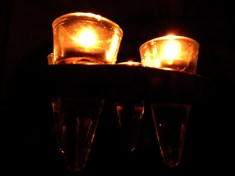 Photo of candles in glass holders