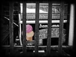 Photo of abandoned ice cream cabinet
