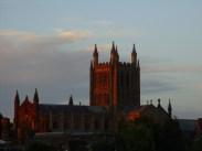 Photo of Hereford Cathedral at sunset
