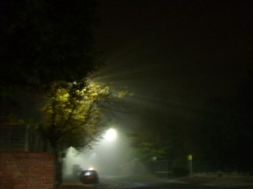 Photo of foggy street