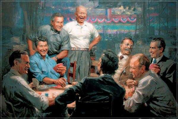Republican Presidents Playing Poker | The Blog Chooses the ...