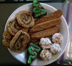 Christmas cookies from the nieghbor