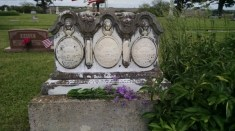 The children who died in a flu epidemic. They are not related but I always took them flowers