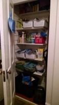 The closet! Finally organized!