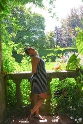 Goofing off in the Italian garden
