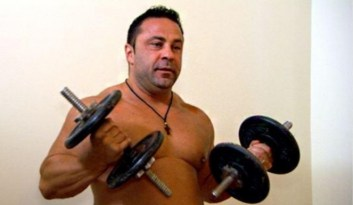 Joe Giudice's easily as strong as a Bigfoot.