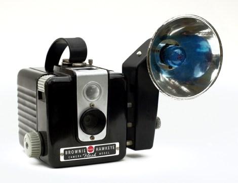 the Kodak Brownie Hawkeye with flash.